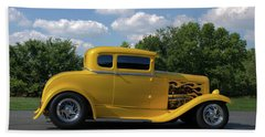 1931 Ford Coupe Hot Rod Beach Towel