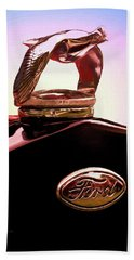 Beach Towel featuring the photograph 1931 Ford Truck Quail by Trey Foerster