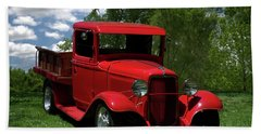 1932 Ford Flatbed Pickup Beach Towel