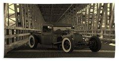 1932 Ford Pickup Rat Rod Beach Towel
