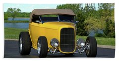 Beach Towel featuring the photograph 1932 Ford Roadster by Tim McCullough