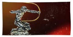 1933 Pierce-arrow Silver Arrow Detail Beach Towel by Wade Brooks