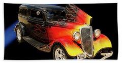 1934 Ford Street Rod Classic Car 5545.04 Beach Sheet by M K  Miller