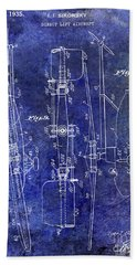 1935 Helicopter Patent Blue Beach Towel by Jon Neidert