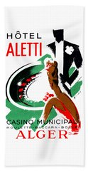 1935 Hotel Aletti Casino Algeria Beach Towel by Historic Image