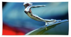 1936 Cadillac Hood Ornament 2 Beach Towel