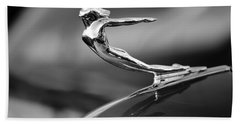 1936 Cadillac Hood Ornament 3 Beach Towel