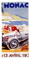 1936 F1 Monaco Grand Prix  Beach Towel