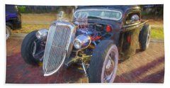 1936 Ford Pick Up Truck C147   Beach Towel