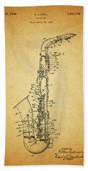 1936 Saxophone Patent Beach Sheet by Dan Sproul