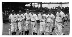 1937 All Star Baseball Players Beach Towel