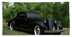 Beach Sheet featuring the photograph 1937 Cadillac V16 Fleetwood Stationary Coupe by Tim McCullough