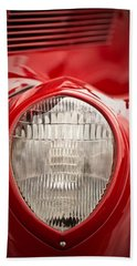 1937 Ford Headlight Detail Beach Towel