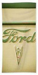 1938 Ford Rat Rod Panel Truck V8 Emblem -ck0119c Beach Towel