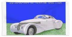 1938 Hispano Suiza H6c Saoutchik Xenia Coupe Beach Sheet by Jack Pumphrey