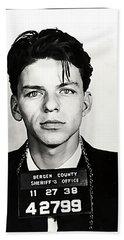 1938 Young Frank Sinatra Mugshot Beach Towel