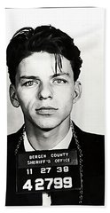 1938 Young Frank Sinatra Mugshot Beach Sheet