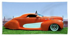 1939 Lincoln Zephyr Coupe Beach Towel