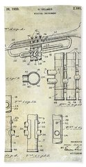 1939 Trumpet Patent Beach Sheet by Jon Neidert