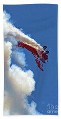 1940 Boeing Stearman Biplane Stunt 2 Beach Sheet