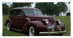 Beach Sheet featuring the photograph 1939 Buick Roadmaster Formal Sedan by Tim McCullough