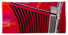 1940 Ford Pickup Grill Beach Towel