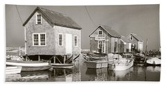 1941 Lobster Shacks, Martha's Vineyard Beach Towel by Historic Image