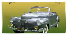 1941 Mercury Eight Convertible Beach Towel