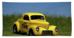 1941 Willys Coupe Beach Towel by Tim McCullough