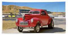 1941 Willys 'gasser' Coupe Beach Towel