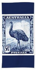 1942 Australia Emu Bird Postage Stamp Beach Towel