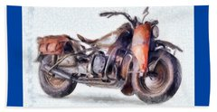 1942 Harley Davidson, Military, 750cc Beach Sheet