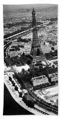 1944 Liberated Paris Beach Towel