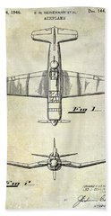 1946 Airplane Patent Beach Towel