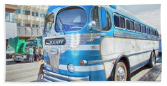 Beach Towel featuring the photograph 1946 Greyhound by Theresa Tahara