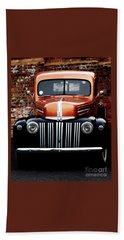 Beach Towel featuring the photograph 1947 Ford F150 Regular Cab Pick Up by Baggieoldboy