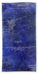 1947 Helicopter Patent Blue Beach Towel by Jon Neidert