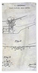1947 Helicopter Patent Beach Towel by Jon Neidert