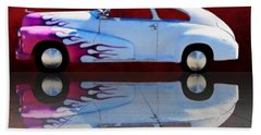 1947 Oldsmobile Tile Reflection Beach Towel