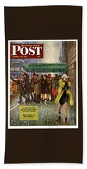 1947 Saturday Evening Post Magazine Cover Beach Towel
