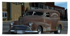 Beach Sheet featuring the photograph 1948 Oldsmobile Sedan Delivery by Tim McCullough