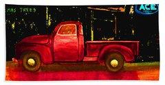 1949 Chevy Pickup Neon Beach Towel