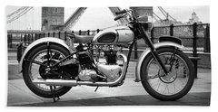 1949 Triumph T100 Beach Sheet by Mark Rogan