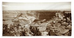 Beach Towel featuring the photograph 1950 Grand Canyon Desert Point by Marilyn Hunt