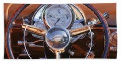 1950 Oldsmobile Rocket 88 Steering Wheel 2 Beach Towel