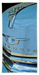 Beach Towel featuring the photograph 1950 Plymouth Coupe by Linda Unger