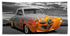 1950 Studebaker Coupe Beach Towel