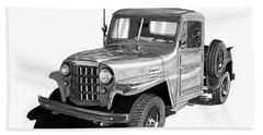 1950 Willys Pick Up Truck Beach Towel