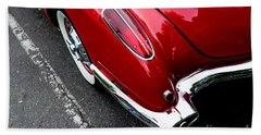 Beach Towel featuring the photograph 1959 Corvette by M G Whittingham