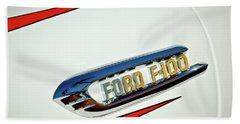 1950's Ford F-100 Fordomatic Pickup Truck Emblem Beach Towel